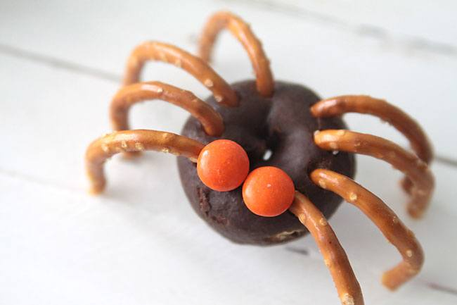 arañas de chocolate