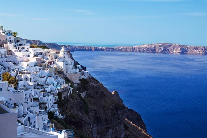 Fira, capital de la isla griega de Santorini