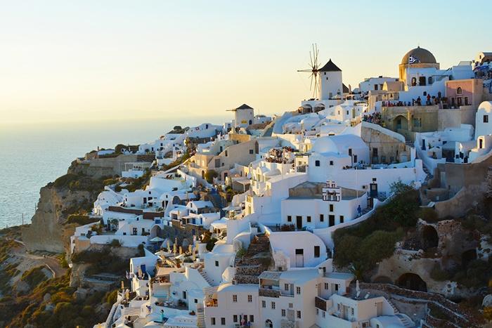 Oia, pueblo de la isla griega de Santorini