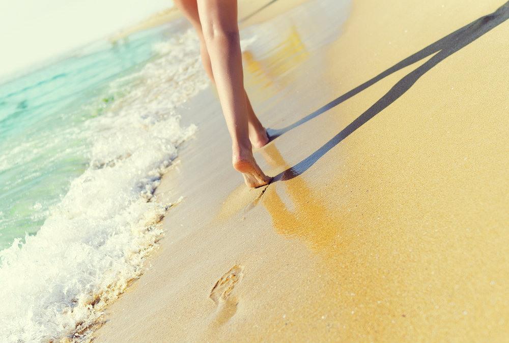 Andar por la playa