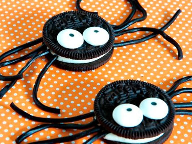 arañas de galleta