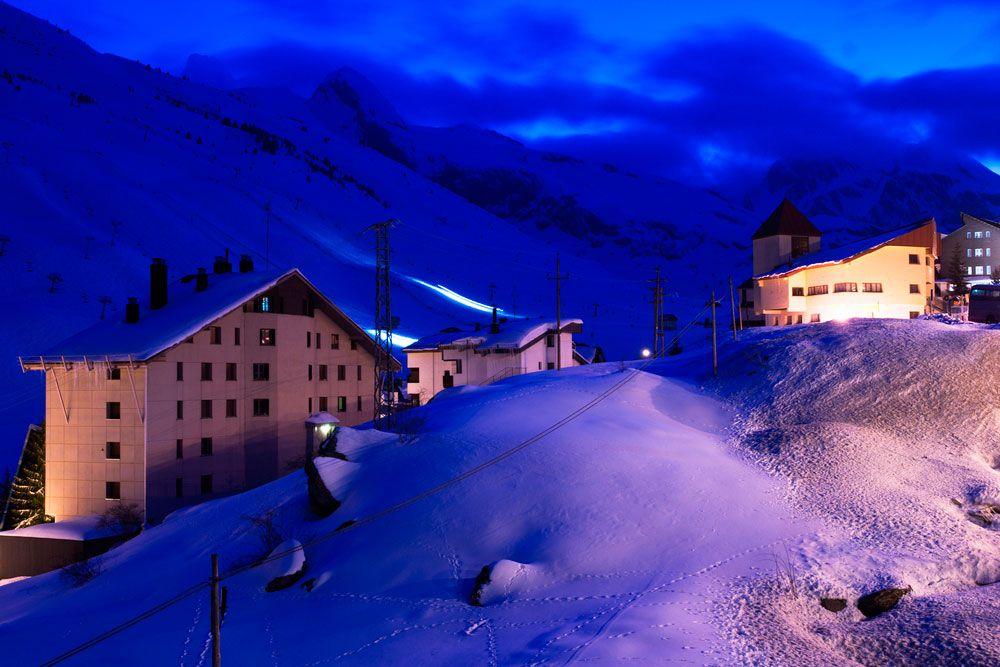 Nochevieja en la nieve