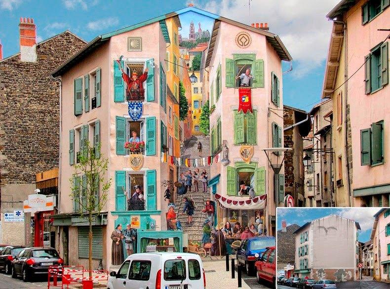 Pintura realista en la calle