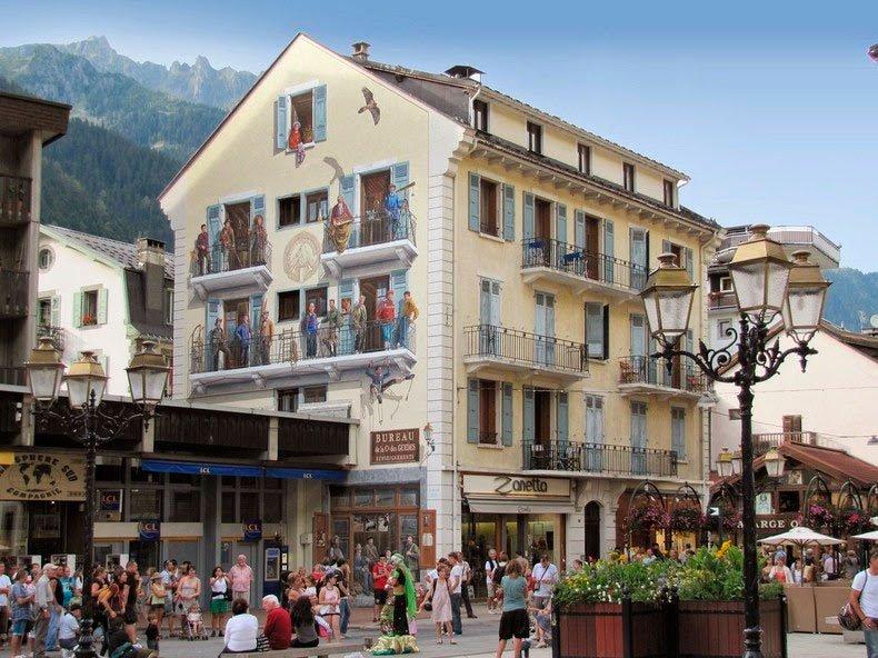 Fachada en Mont Blanc