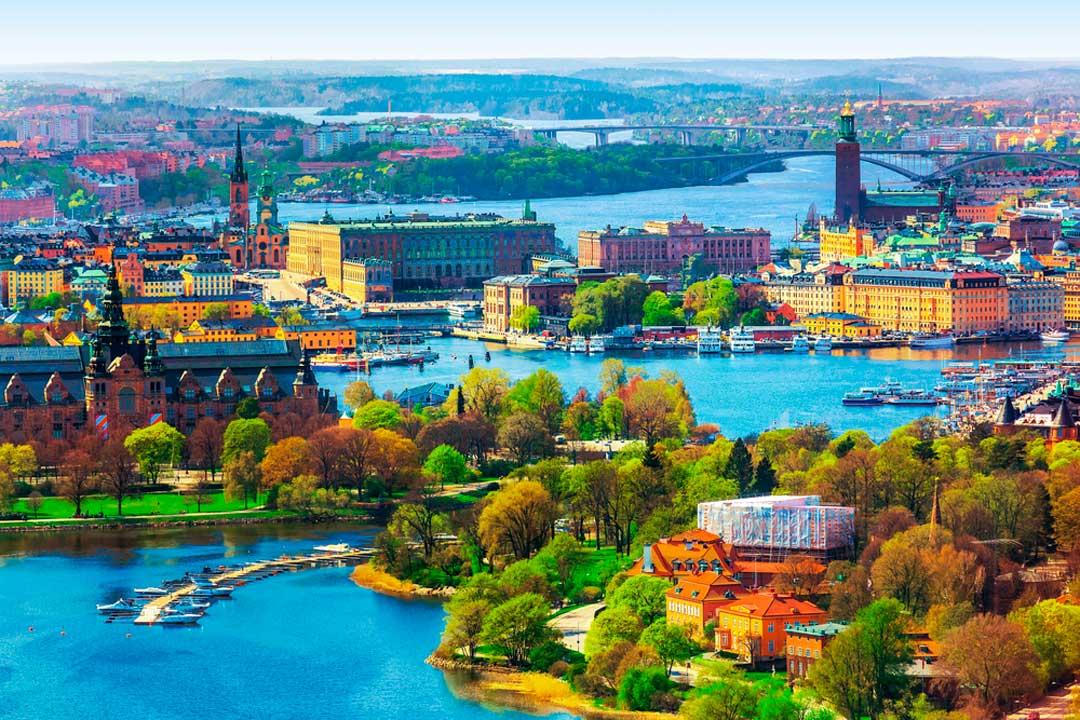 Vista de Gamla Stan o ciudad vieja de Estocolmo