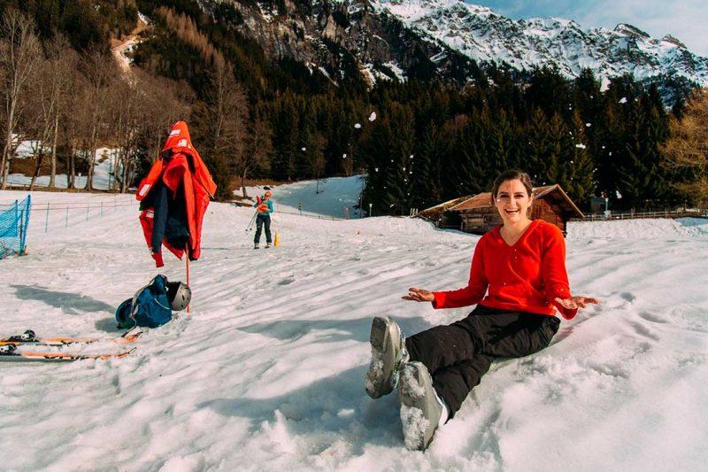 Los Alpes Suizos son un buen destino de nieve para niños