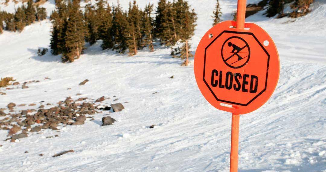 Causas del cierre de la estación de esquí