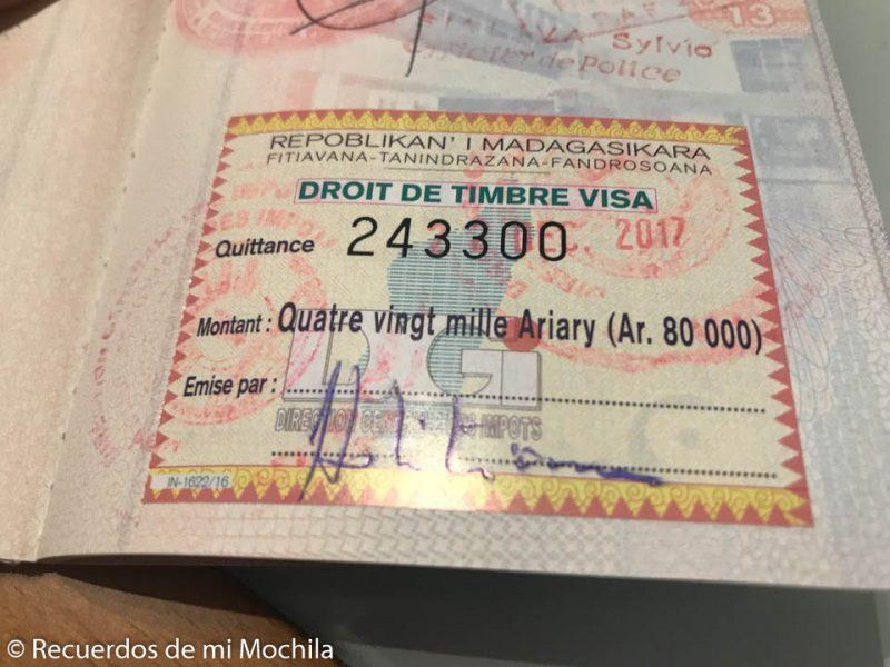 Visado y otros requisitos para viajar a Madagascar desde España