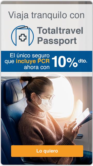 descuento seguro de viaje totaltravel passport intermundial pcr pasaporte sanitario